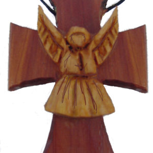 Wood Necklace – Angel Necklace Cross
