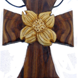 Wood Necklace – Dogwood Necklace Cross