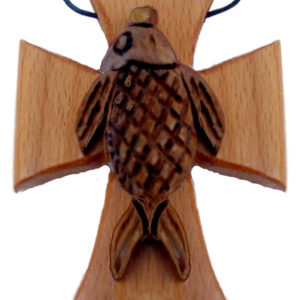 Wood Necklaces – Fish Cross Necklace