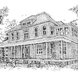 """House on Mound St."" – YOUR Pick any Pen & Ink"