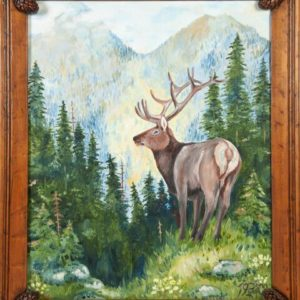 """Elk in Alaska"" – YOUR Pick of any Oil Painting"