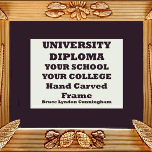 Framed Diploma- Schools – HandCarved Pine